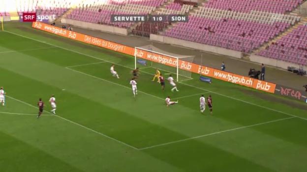 Video «Super League: Servette - Sion («sportaktuell»)» abspielen
