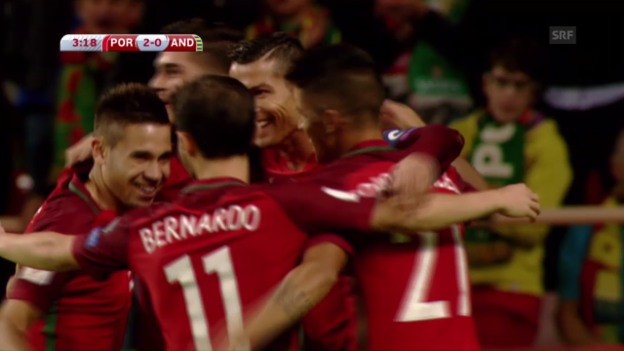 Video «Portugal spielt Andorra an die Wand» abspielen