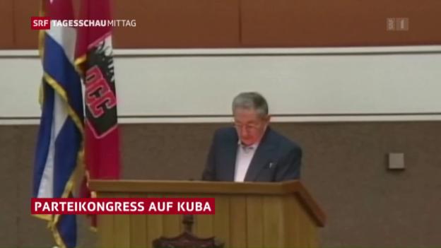 Video «Castro für langsame wirtschaftliche Öffnung» abspielen