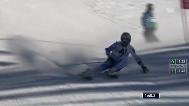 Video «Ski: Riesenslalom Männer, Zusammenfassung» abspielen