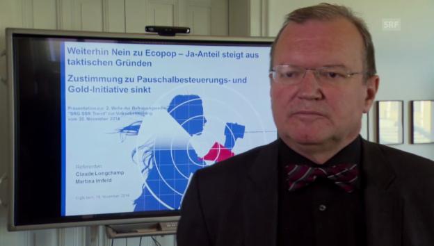 Video «Claude Longchamp zur Meinungsbildung» abspielen