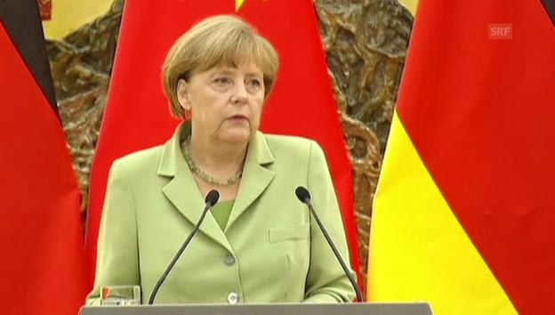 Video «Angela Merkel zur Abhöraffäre» abspielen