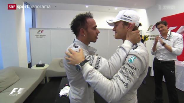 Video «Formel 1: Lewis Hamilton holt WM-Titel» abspielen