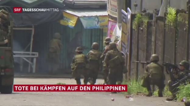 Video «Kämpfe gegen Islamisten auf Mindanao» abspielen