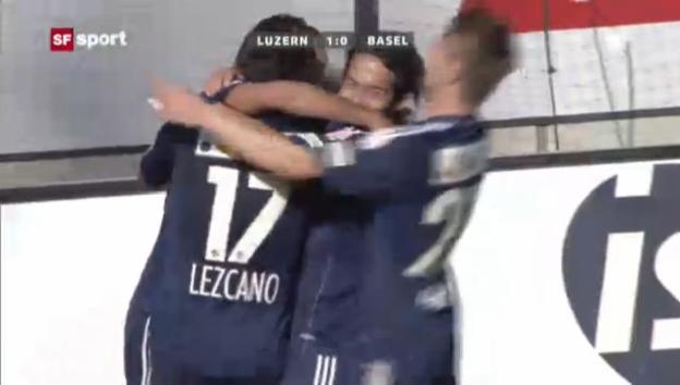 Video «Luzern kämpft Basel bei Yakin-Debüt nieder» abspielen