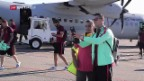 Video «Grosse Aufruhr in Andorra bei Portugal-Besuch» abspielen