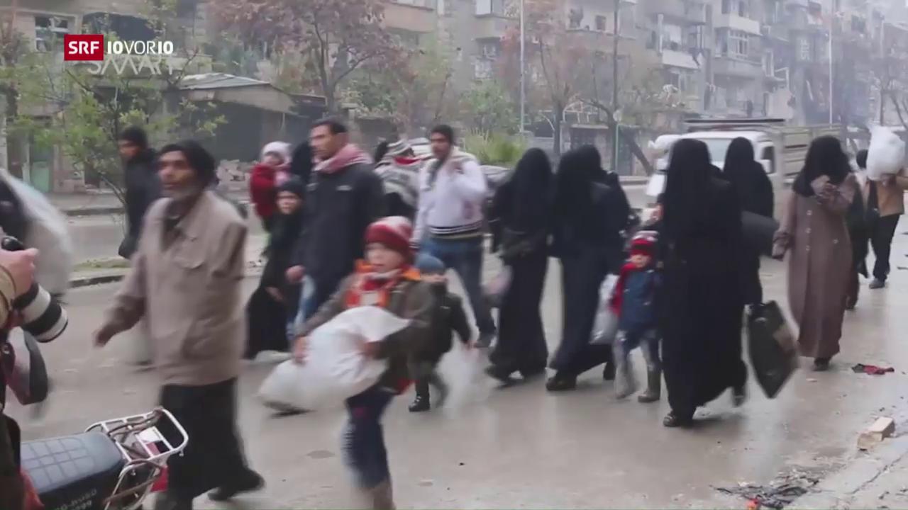 Bangen Warten auf die Flucht aus Aleppo