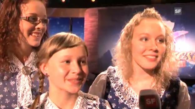 Video «Die Geschwister Weber über den Gewinn der «Alpenrose» 2012» abspielen