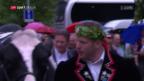 Video «Empfang von Schwingerkönig Matthias Glarner» abspielen
