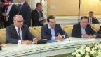 Video «Griechenland zahlt IWF-Kredit fristgerecht zurück» abspielen