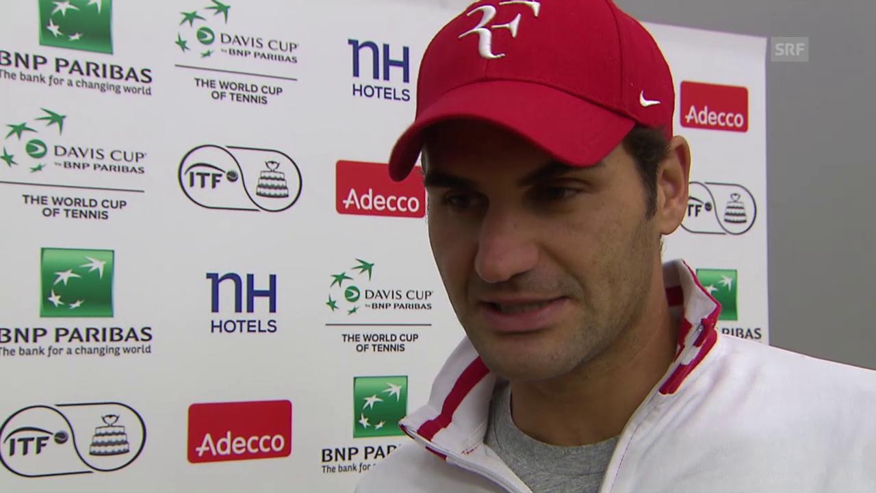 Tennis: Davis Cup, Roger Federer im Interview