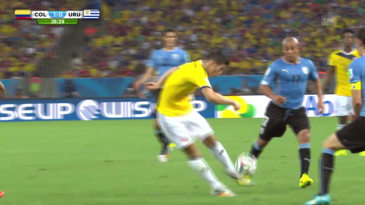 FIFA WM 2014: James' Prachtstreffer