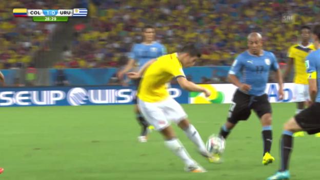 Video «FIFA WM 2014: James' Prachtstreffer» abspielen