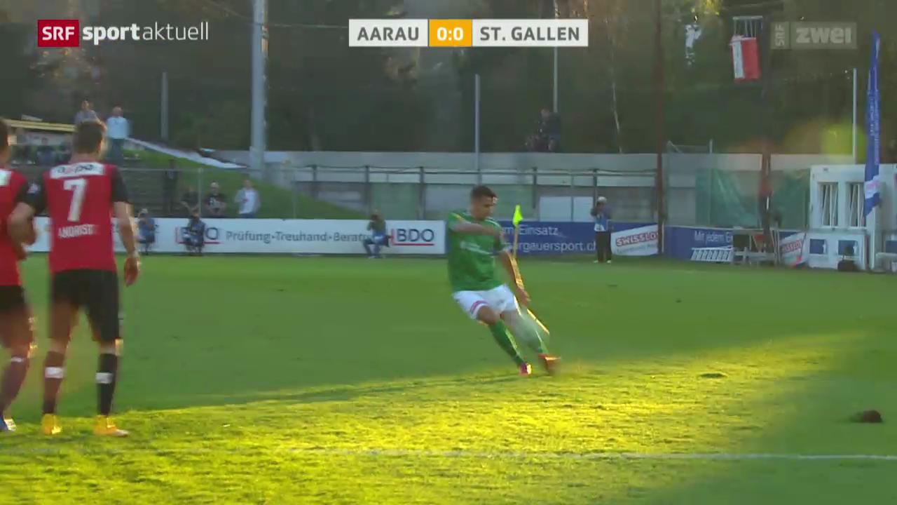 Fussball: St. Gallen - Aarau