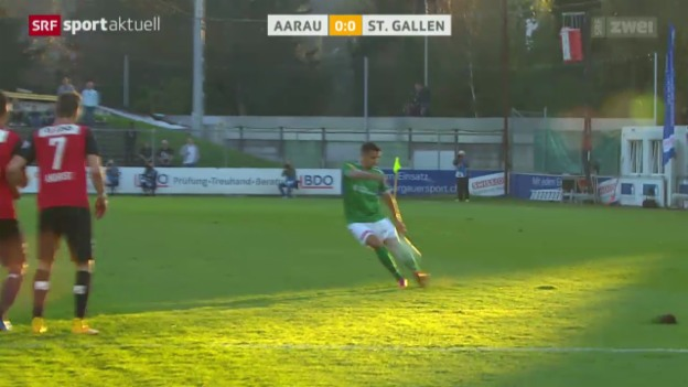 Video «Fussball: St. Gallen - Aarau» abspielen