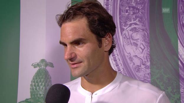 Video «Tennis: Wimbledon, Federer - Groth, Interview Federer» abspielen