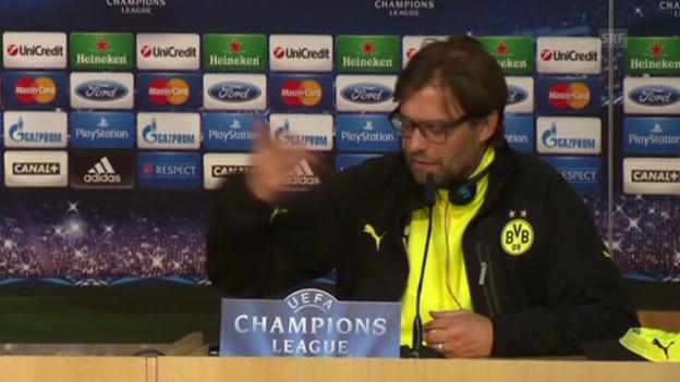 Video «Fussball: Champions League, Klopp vor Real-Dortmund» abspielen