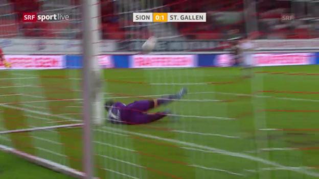 Video «Sion und St. Gallen trennen sich mit einem Unentschieden» abspielen