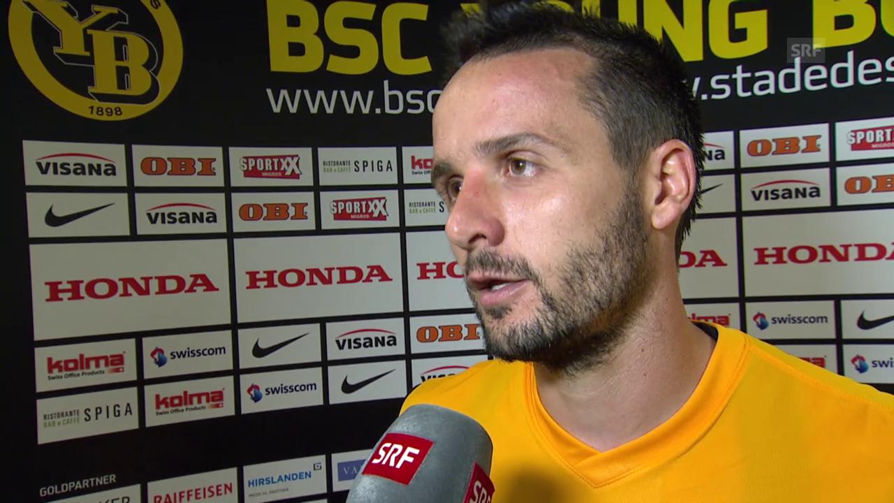 Fussball: Champions League, YB-Monac, Interview mit Raphael Nuzzolo