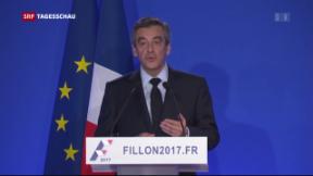 Video «Fillon gibt Fehler zu» abspielen
