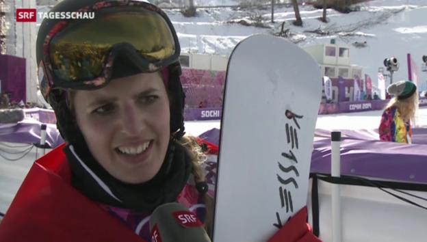 Video «Patrizia Kummer gewinnt 2014 in Sotschi Olympia-Gold» abspielen