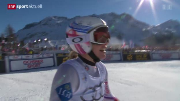 Video «Ski: Super-G der Frauen in St. Moritz» abspielen