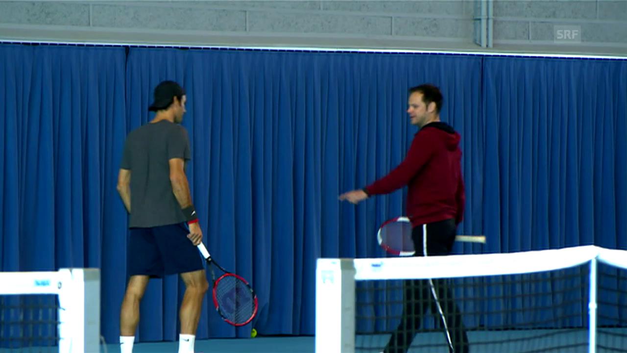 Roger Federer stellt seinen Allzeit-Coach Severin Lüthi vor