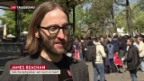 Video «March for Science»: Hunderte demonstrieren in Genf abspielen.