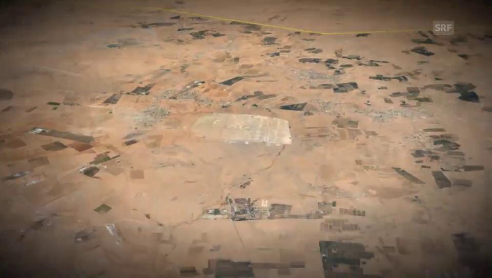 Das Flüchtlingslager Zaatari aus der Vogelperspektive