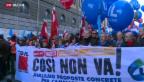 Video «Generalstreik legt Italien lahm» abspielen