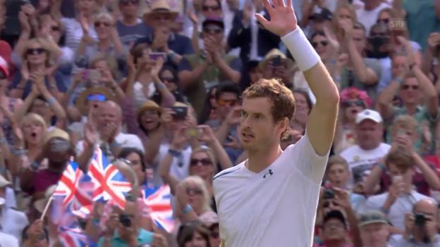 Video «Murray schaltet Paire in 3 Sätzen aus» abspielen