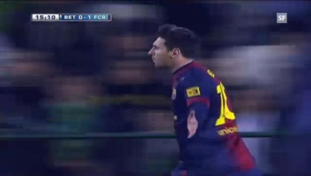 Fussball: Lionel Messis Tore zum Rekord gegen Betis Sevilla