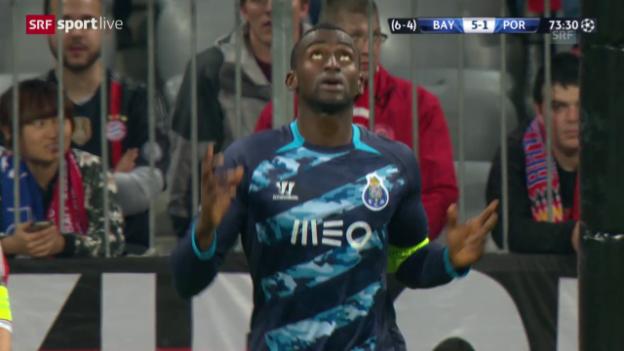 Video «Fussball: Champions League, Viertelfinal Rückspiel, Bayern-Porto, 1:5 Martinez» abspielen
