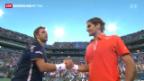 Video «Federer schlägt Wawrinka» abspielen