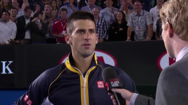 Video «Platzinterview mit Novak Djokovic («sportlive»)» abspielen