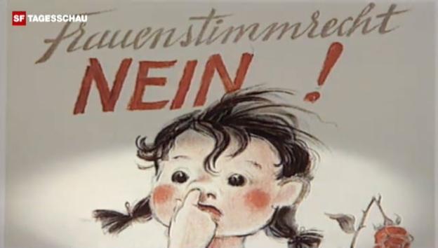 Video «Plakat-Kampagne gegen das Frauenstimmrecht (Archiv)» abspielen