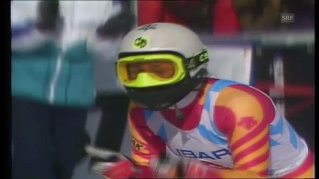 Video «Ski-WM 1989: Maria Walliser fährt zu Gold» abspielen