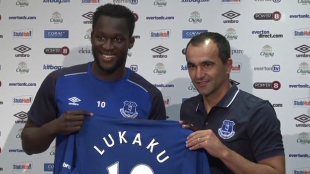 Video «Fussball: Romelu Lukaku wird in Liverpool vorgestellt» abspielen