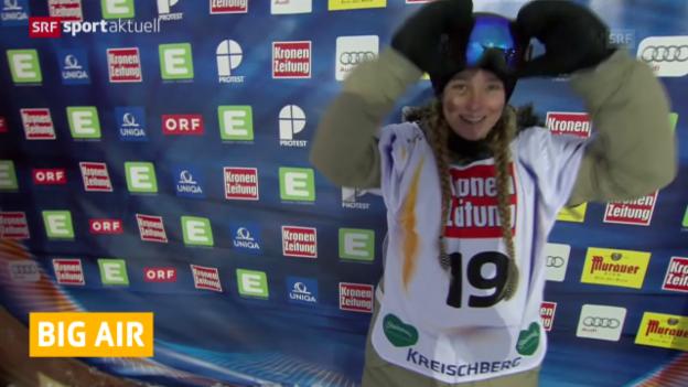 Video «Freestyle-WM: 4 Schweizer im Snowboard Big-Air-Final («sportaktuell»)» abspielen