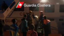 Video «Italienische Küstenwache im Dauereinsatz (unkommentiert)» abspielen