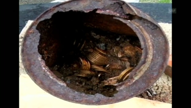 Video «Riesiger Fund alter Goldmünzen (unkomm.)» abspielen