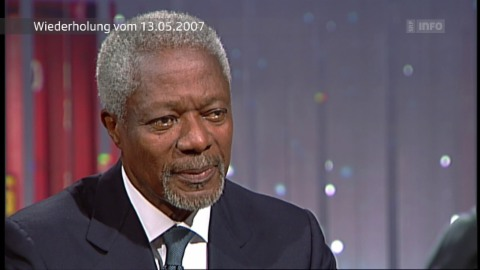 Hans Küng trifft Kofi Annan