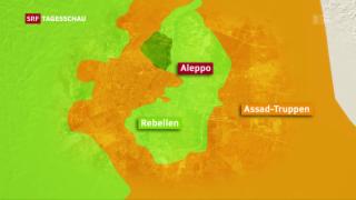 Video «Rebellen starten Gegenoffensive in Aleppo» abspielen