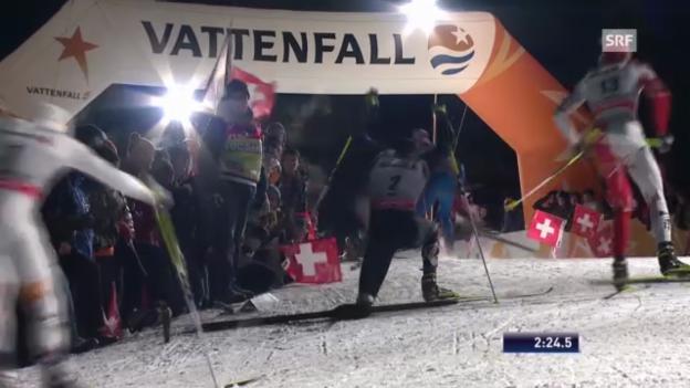 Video «Langlauf: Final Männer («sportlive»)» abspielen