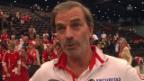 Video «Heinz Günthardt nach dem Halbfinal-Einzug im Fed Cup» abspielen