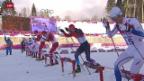 Video «Langlauf: Sprint-Final der Männer» abspielen