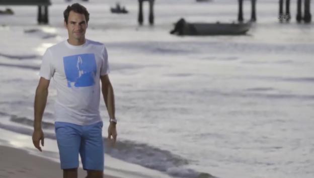 Video «Roger Federer bei den Delfinen» abspielen