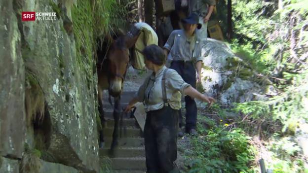 Video «Steckengeblieben auf dem Säumerpfad» abspielen
