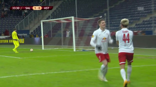 Video «Fussball: Europa League, Salzburg - Asteras Tripolis» abspielen