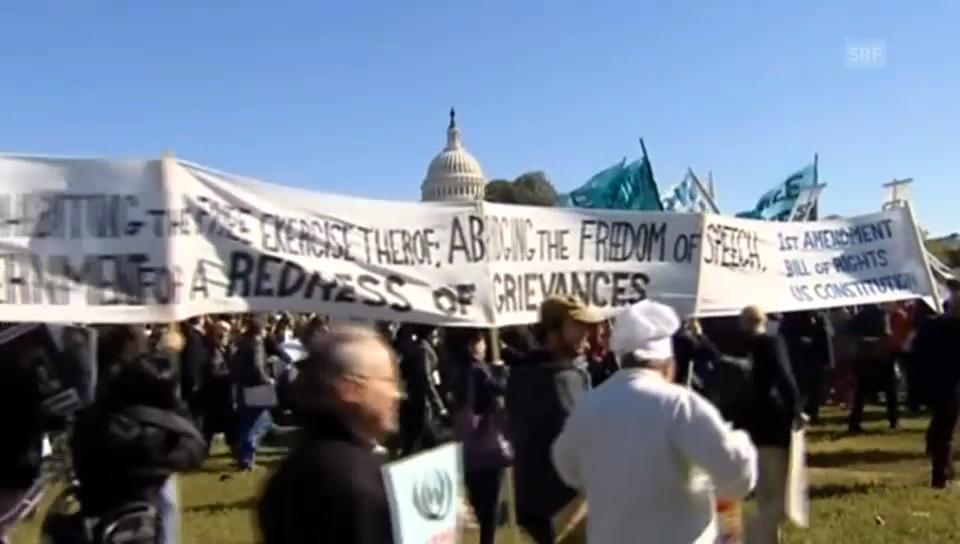 Protest gegen NSA in Washington (unkomm.)